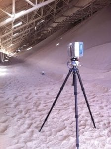 Faro scanner for mining surveys