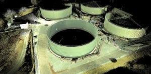 Laser scanning torage tanks surveys for deformation and calibration