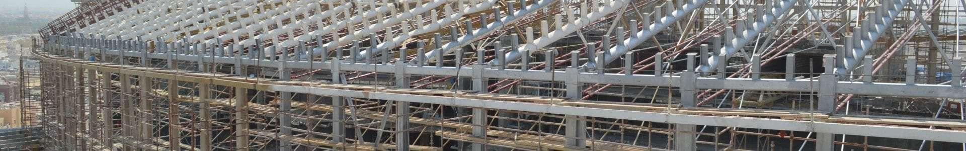 Laser scanning to determine deformation of steel structure in kuwait