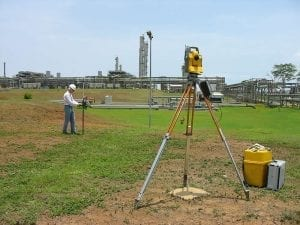 LNG process plant topographic survey work