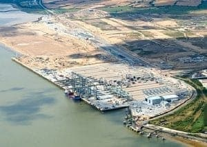 Oblique aerial imagery of London Gateway