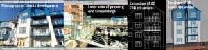 BIM and laser survey for architectural design work