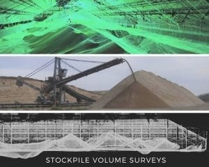 Laser scanning for mineral stockpile volume calcualtions - inventory