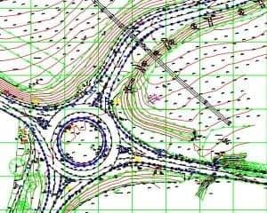 Topographic survey of highway for Motorway link road
