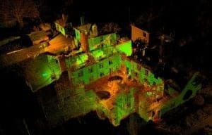 laser scanning of fire damaged ancient buildings