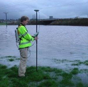 Flood extents topographical survey