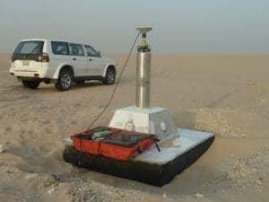 Saudi Arabia - Kuwait border - Geodetic survey work - high accuracy GNSS