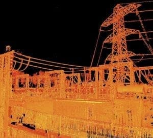 Laser scan of sub station for 3D modelling